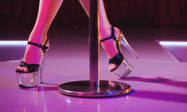 High heels shoes on stage in strip night club. Photo: Kristina Kokhanova/Shutterstock.