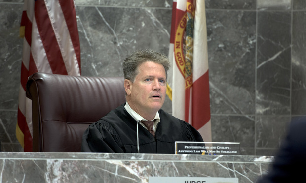 Broward Circuit Judge David Haimes. Photo: Melanie Bell/ALM.
