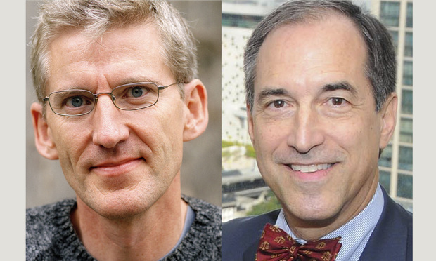 Clive Stafford Smith, left, and Benedict Kuehne, right. Courtesy photos.