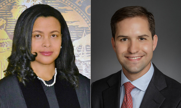 L-R Florida Supreme Court Justices Renatha Francis and John Couriel. Courtesy photos.