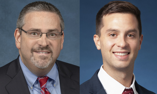 Perry Sofferman, partner with Kaufman Dolowich & Voluck in Fort Lauderdale, left, and Andrew Burnstine, associate with Wicker Smith in Orlando, right.