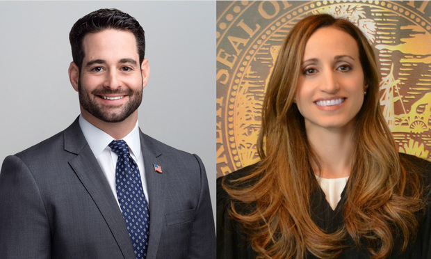 Shaun Spector, left, and Judge Christine Bandin, right. Courtesy photos.