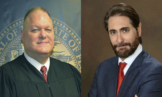 "Miami-Dade County Court Judge Joseph Mansfield, and Coral Gables attorney Miguel ""Mike"" Mirabal. Both are running for Miami-Dade County Court Judge, Group 9, in the August primary election. Courtesy photos."