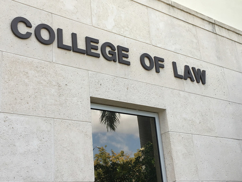 College of Law sign