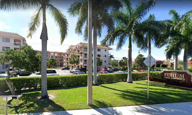 Google Street View of The Forum apartment building in Boca Raton.