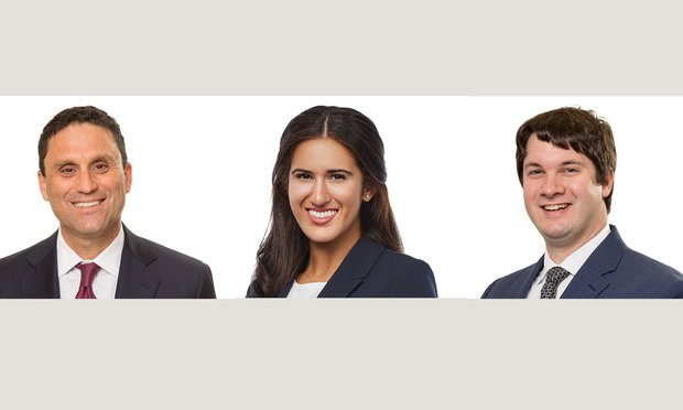 L-R: Jonathan Etra, Nicole Villamar, and Christopher Cavallo of Nelson Mullins Riley & Scarborough. Courtesy photos