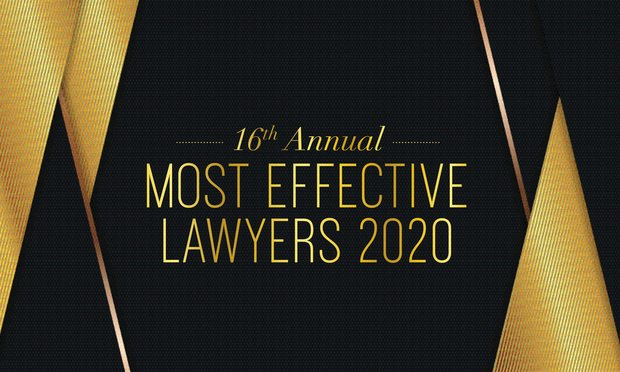 Most Effective Lawyers 2020 banner