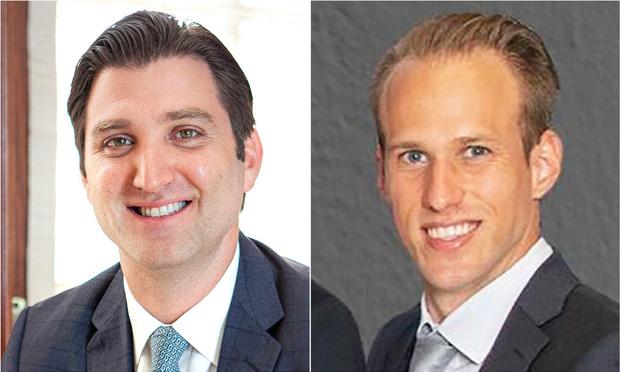Gabriel Groisman and Gil Ben-Ezra, a partner and an associate with Meland Budwick, P.A. in Miami, Florida, who represented Stx Technologies Ltd. and Moshe Hogeg Courtesy Photo