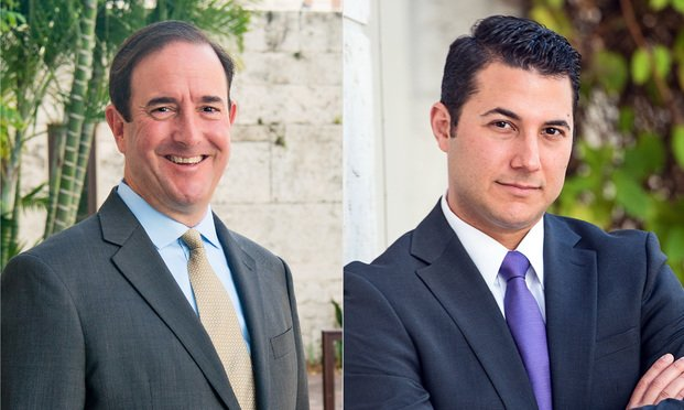 L-R Michael Haggard and Adam Finkel, Haggard Law Firm in Coral Gables. Courtesy Photos