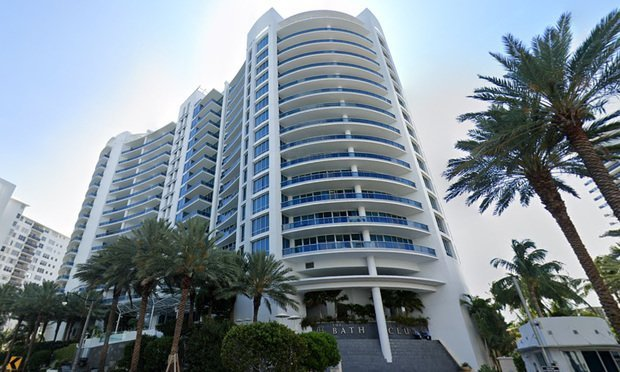 Bath Club condominium on Miami Beach. Photo: Google.