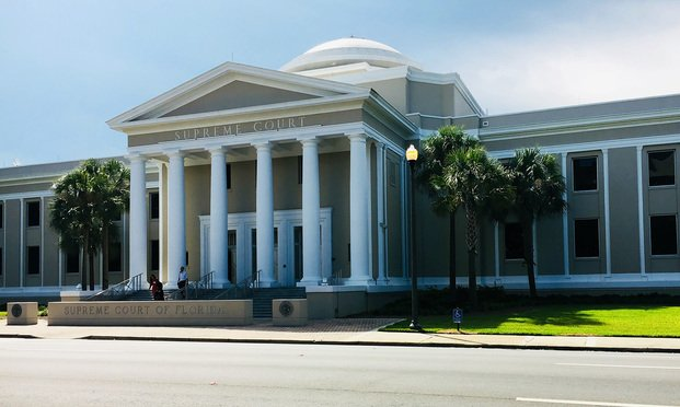 Florida Supreme Court in Tallahassee, Florida.  Photo: Raychel Lean/ALM