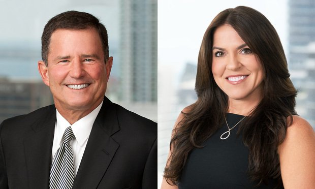 Alan Rosenthal and Natalie Carlos, shareholders at Carlton Fields in Miami. Courtesy Photos