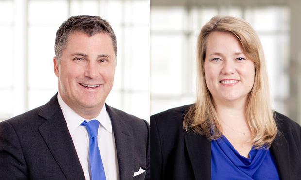 Ian Simmons, left, and Katrina Robson, right, with O'Melveny & Myers in Washington, D.C. Courtesy photos