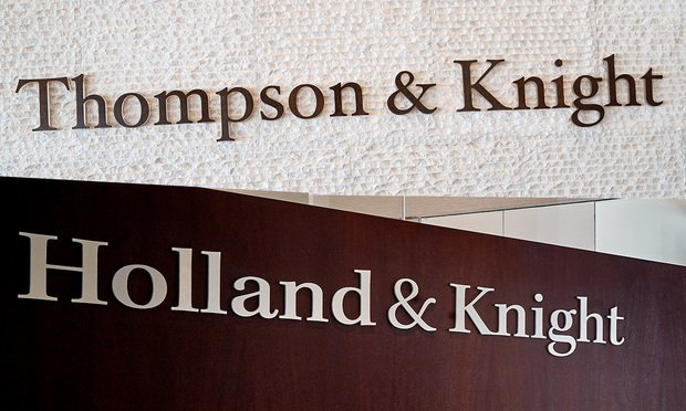 Thompson & Knight and Holland Knight signs. Courtesy Photos.