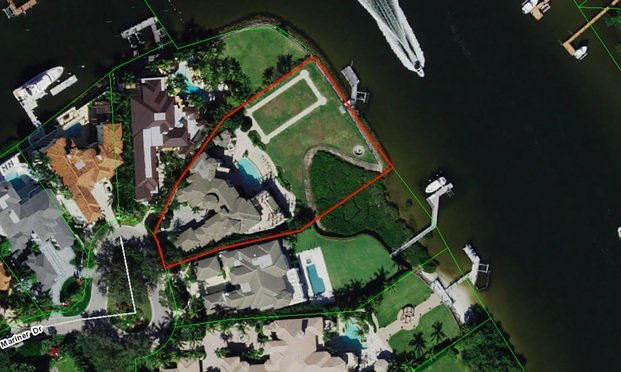 A mansion that Donald Trump Jr. recently bought at 494 Mariner Dr., Jupiter.