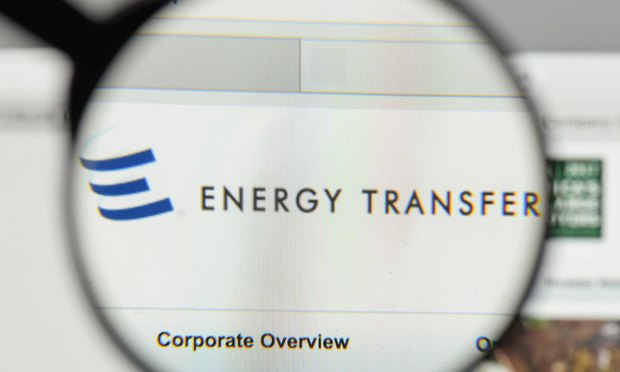 Energy Transfer Equity logo on the website homepage.