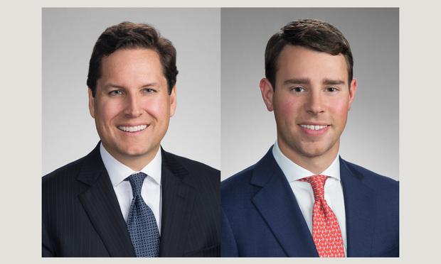 From left: Robert B. Little and Lewis J. Matthews of Gibson Dunn & Crutcher