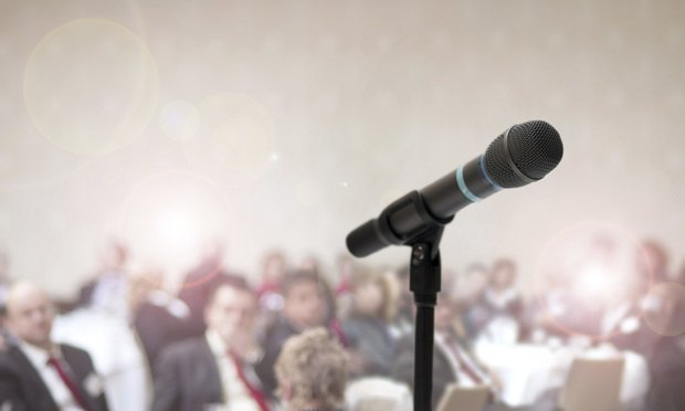Business-conference speaking, talking, speaker