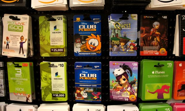 gift cards retail