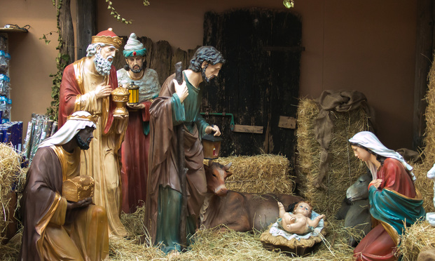 Nativity scene of Christ.