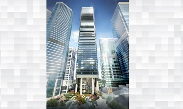 Rendering of One Taikoo Place in Hong Kong
