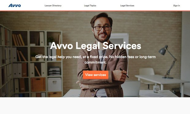 Avvo legal services.