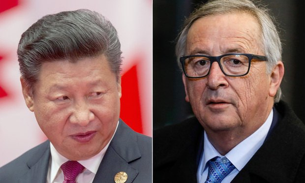 Xi Jinping and Jean-Claude Juncker