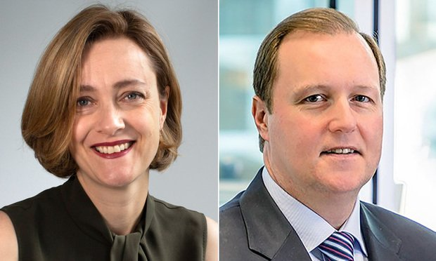Emily Foges, CEO of Luminance, and Jason Brennan, Luminance's new president of the Americas.