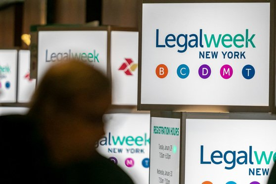 Legalweek signs