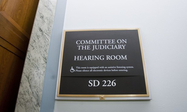 Senate Judiciary Committee Hearing Room In The Dirksen Senate Office  Building On Feb. 11, 2014. Photo By Diego M. Radzinschi/ALM.