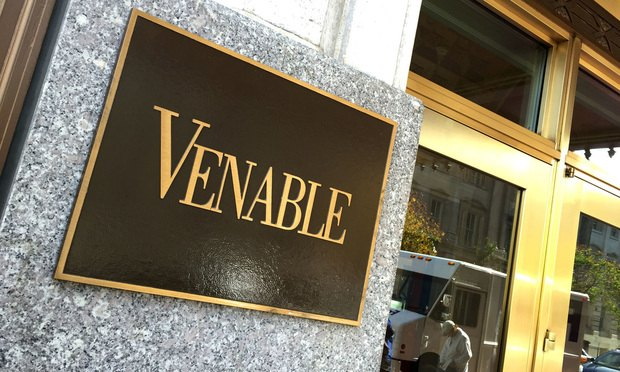 Venable offices in Washington, D.C.  October 24, 2014.