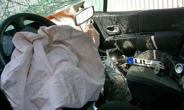 Deployed Takata air bag