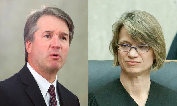 Judges Brett Kavanaugh (left) and Nina Pillard, U.S. Court of Appeals for the D.C. Circuit
