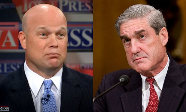 Acting Attorney General Matthew Whitaker and Special Counsel Robert Mueller III (Photos by Diego Radzinschi)