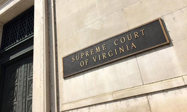 Caption/Description Virginia Supreme Court in Richmond. Photo by Diego M. Radzinschi/THE NATIONAL LAW JOURNAL.