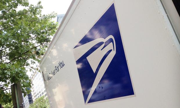 U.S. Postal Service truck.