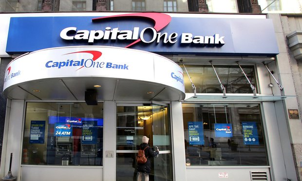 Capital One Bank branch.