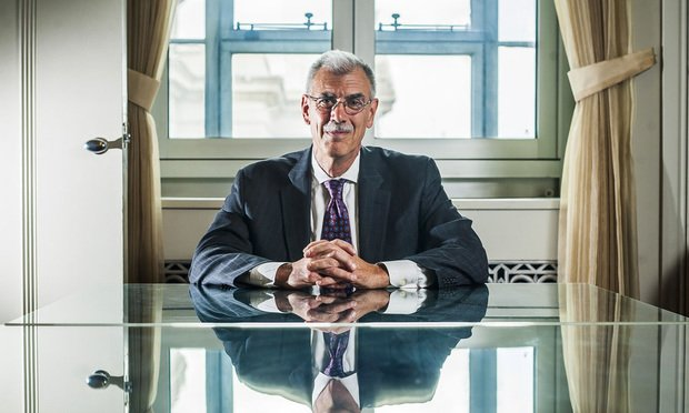 Former U.S. Solicitor General Donald Verrilli Jr. in his office at the U.S. Department of Justice.