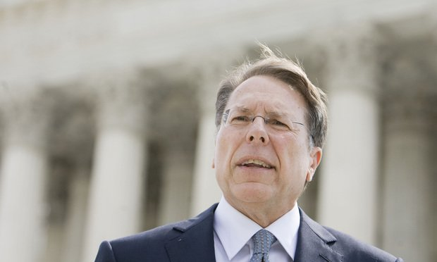 Wayne LaPierre of the National Rifle Association of America. (Photo: Diego M. Radzinschi/ALM.)