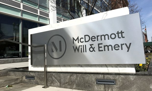 McDermott Will &; Emery offices in Washington, D.C. Photo: Diego M. Radzinschi/ALM