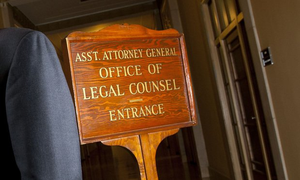 Office of Legal Counsel sign.