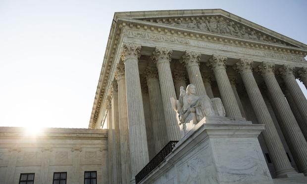 The U.S. Supreme Court building in Washington, D.C. (Photo: Diego M. Radzinschi/ALM)