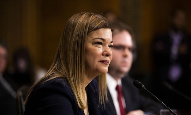 Barbara Lagoa testifies before the Senate Judiciary Committee.