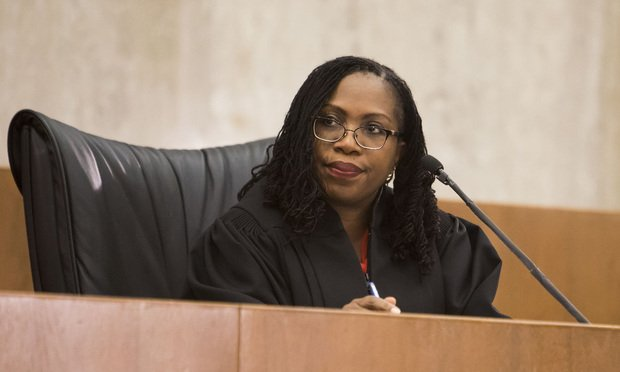 Judge Ketanji Brown Jackson.