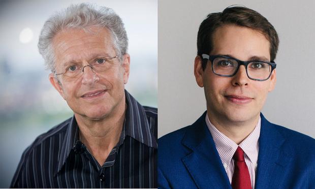 Harvard Law School professor Laurence Tribe and Joshua Matz of Kaplan Hecker & Fink.