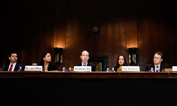 A panel discusses national injunctions before the Senate Judiciary Committee.