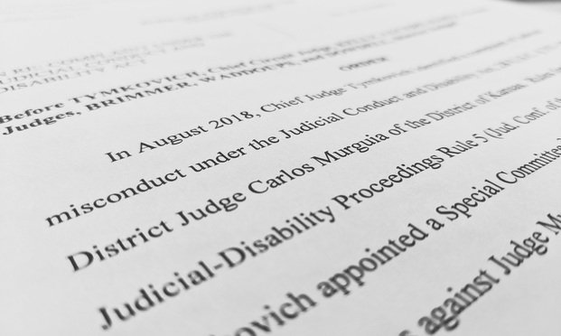 U.S. District Judge Carlos Murguia of the District of Kansas was publicly reprimanded by the Judicial Council of the Tenth Circuit.