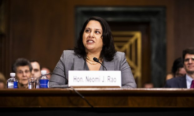 Neomi Rao testifies before the Senate Judiciary Committee during her confirmation hearing.
