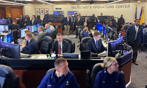 Operations employees monitoring the coronavirus at the Secretary's Operations Center at the U.S. Health & Human Services Department, on Thursday, Feb. 27, 2020. (White House photo)