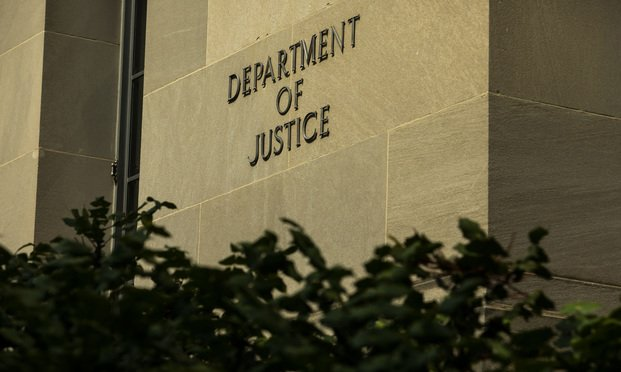 U.S. Department of Justice building in Washington, D.C. June 6, 2020. Photo: Diego M. Radzinschi/ALM